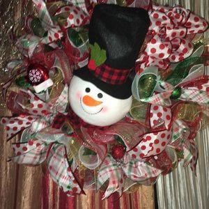 Snowman Topper Wreath
